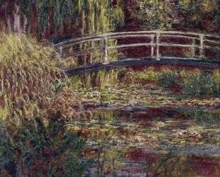 Японский мостик (Пруд с водяными лилиями, симфония в розовом) — Клод Моне