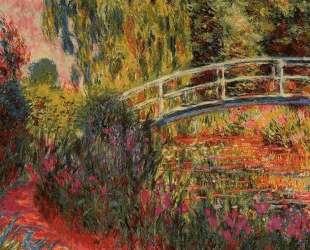 Японский мостик (Пруд с водяными лилиями, ирисы) — Клод Моне