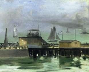 The Jetty at Boulogne — Эдуард Мане