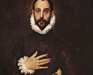 Рыцарь с рукой на груди — Эль Греко