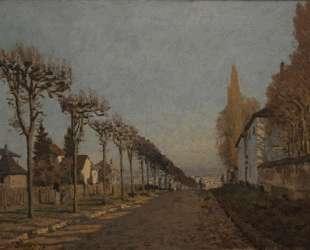 The lane of the Machine — Альфред Сислей