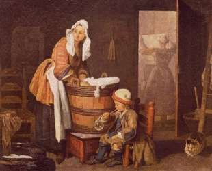 The laundress — Жан Батист Симеон Шарден