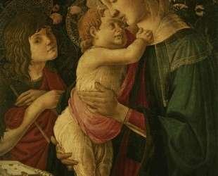 Мадонна с младенцем и маленький Иоанн Креститель — Сандро Ботичелли