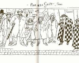 The march down Rue de la Gatti in Paris — Маревна