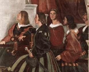 The Mass at Bolsena (detail) — Рафаэль Санти
