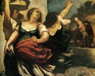 Мельник, его сын и осел — Оноре Домье