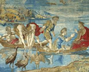 The Miraculous Draught of Fishes (cartoon for the Sistine Chapel) — Рафаэль Санти