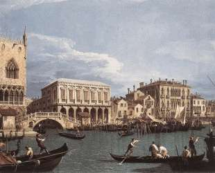 The Molo and the Riva degli Schiavoni from the St. Mark's Basin — Каналетто