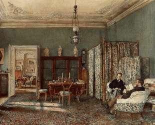The Morning Room of the Palais Lanckoronski, Vienna — Рудольф фон Альт