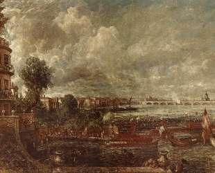 Открытие моста Ватерлоо. Вид с лестницы Уайтхолла — Джон Констебл