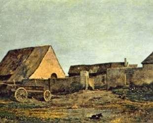 Крестьянский двор — Шарль-Франсуа Добиньи