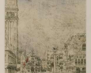 The Piazzetta and the Old Campanile, Venice — Уолтер Сикерт