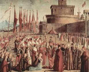 The Pilgrims Meet Pope Cyriac before the Walls of Rome — Витторе Карпаччо