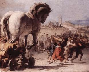 The Procession of the Trojan Horse in Troy — Джованни Доменико Тьеполо