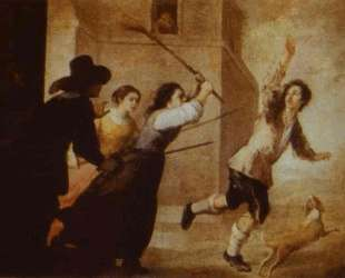 The Prodigal Son Driven Out — Бартоломе Эстебан Мурильо