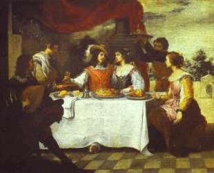 The Prodigal Son Feasting with Courtesans — Бартоломе Эстебан Мурильо