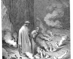 Наказание симонистов — Гюстав Доре