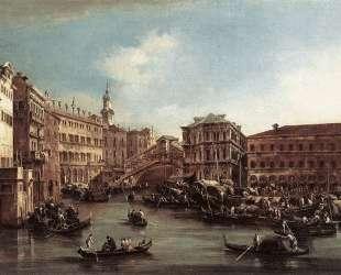 The Rialto Bridge with the Palazzo dei Camerlenghi — Франческо Гварди