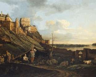 The ruins of Thebes on the River March — Бернардо Беллотто