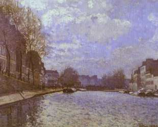 The Saint Martin Canal in Paris — Альфред Сислей