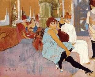 The Salon in the Rue des Moulins — Анри де Тулуз-Лотрек