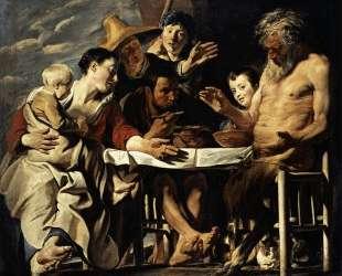 The Satyr with the Peasants — Якоб Йорданс