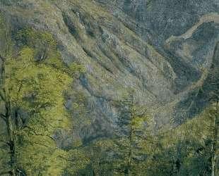 The Schonberg Seen from Hoisernradalpe — Фердинанд Георг Вальдмюллер