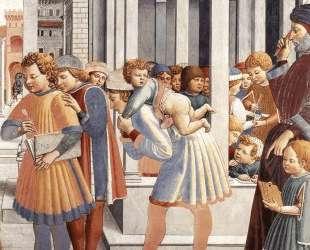 The School of Tagaste (detail) — Беноццо Гоццоли