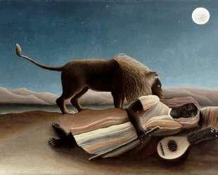 The Sleeping Gypsy — Анри Руссо