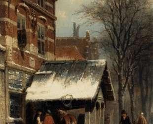 The Smithy of Culemborg in the Winter — Корнелис Спрингер