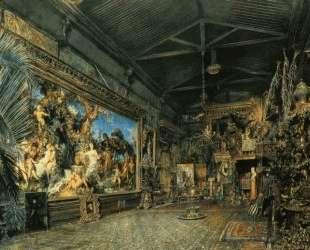 The studio before the auction — Рудольф фон Альт