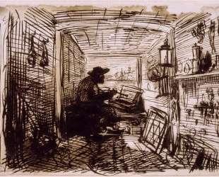 Студия на корабле — Шарль-Франсуа Добиньи