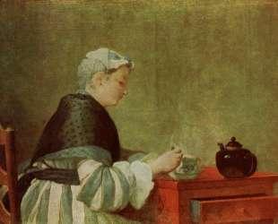 The tea drinker — Жан Батист Симеон Шарден