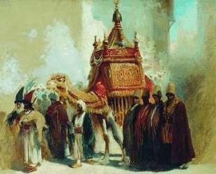 Перенесение священного ковра из Мекки в Каир — Константин Маковский