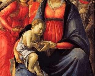 Богоматерь и младенец в окружении пяти ангелов — Сандро Ботичелли