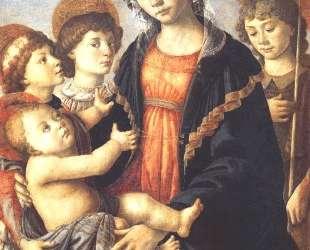 Богоматерь и младенец с двумя ангелами и Иоанном Крестителем — Сандро Ботичелли