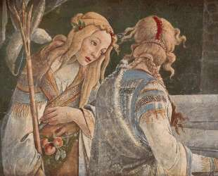 Юный Моисей (деталь) — Сандро Ботичелли
