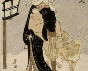 Three Beauties: Snow — Утагава Тоёкуни