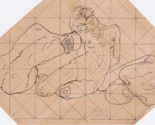 Three crouching women — Коломан Мозер