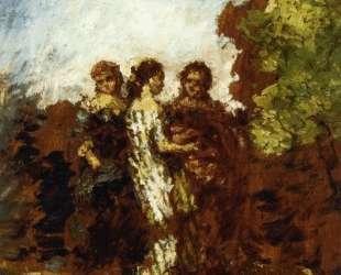Three Friends — Адольф Жозеф Тома Монтичелли