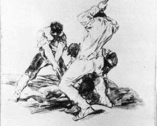 Three Men Digging — Франсиско де Гойя