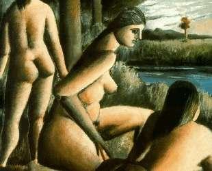 Three nude women — Рафаэль Забалета