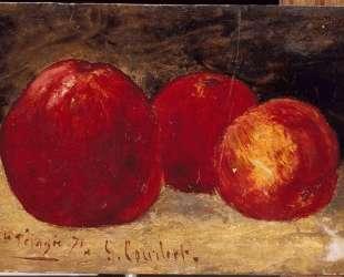 Три красных яблока — Гюстав Курбе