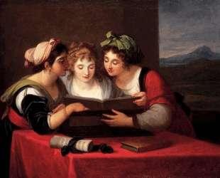 Three singers — Ангелика Кауфман