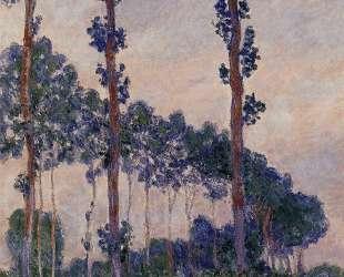 Три дерева в пасмурную погоду — Клод Моне
