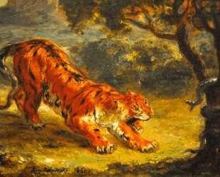 Тигр и змея — Эжен Делакруа