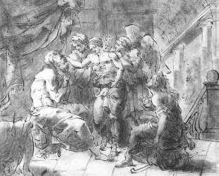 Товий и его слепой отец — Орест Кипренский