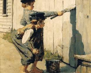 Tom Sawyer (Whitewashing the Fence) — Норман Роквелл