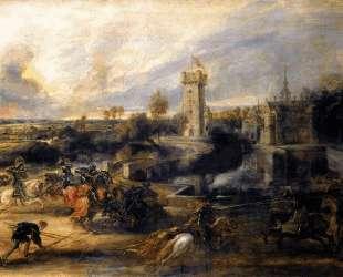 Tournament in front of Castle Steen — Питер Пауль Рубенс