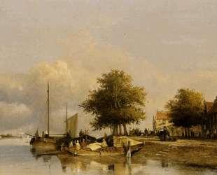 Townsfolk on a quay, Wijk Bij Duursrede — Иохан Хендрик Вейсенбрух